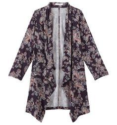 Femme AX Paris Curve Floral imprimé Kimono Manches Wrap Top simplement être