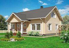 Perinteistä suomalaista arkkitehtuuria edustava Kontio Koskela tarjoaa asumisen mukavuutta idyllisessä kodissa. House Plans, Shed, Outdoor Structures, Houses, Classroom, Floor Layout, Homes, House Floor Plans, House