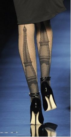Tights (of the Eiffel Tower) created by Jean Paul Gaultier