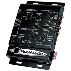 Signal Processors: Planet Audio Ec10b 2-Way Electronic Crossover BUY IT NOW ONLY: $49.07