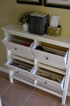 using Hemnes storage for 'junk' in the entry