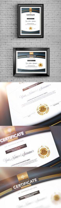 Certificate design template Set.
