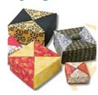Fabric Origami Boxes Video Tutorial