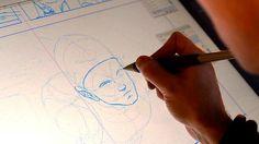 Frank Quitely sketching digitally