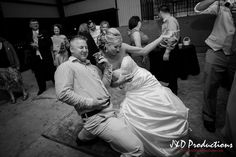 The bride and groom playing air guitar! From Michelle and Steven's #reception at Haak Winery in Santa Fe, TX. #weddingmoments #weddingphotography #texasweddingphotographers #janddproductions #cuteweddingpictures #funweddingmoments #candidweddingmoments #candidweddingpictures #texasweddings #receptionfun #funweddings #weddingdancing #brideandgroom #newlyweds