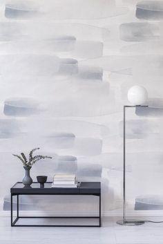 Kess InHouse Jane Smith Woodland Waves Teal Purple Decorative Door 2 x 3 Floor Mat