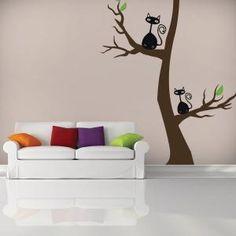 Vinilos Decorativos Gatos en el Árbol