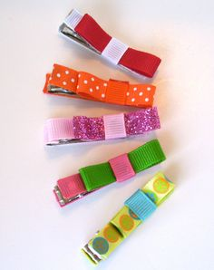 Set of 5 hair clips for only $4! All proceeds help send a 6 year old to her first ice skating competition!