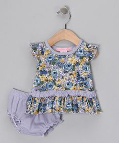 Take a look at this Blue Oasis Dress & Diaper Cover - Infant by Everyday Nay on #zulily today!