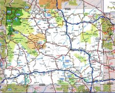 Road Map Of Wyomingfree Maps Of Us