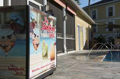 Welcome to the Sunshine Grill at the Sunshine Suites Resort. Grilling, Flat Screen, Sunshine, Blood Plasma, Crickets, Flatscreen, Nikko, Dish Display