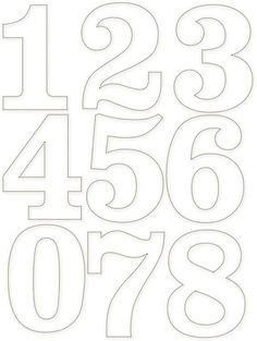 Tethered 2 Home Stencil Lettering, Graffiti Lettering, Number Stencils, Free Stencils, Letter Stencils, Number Templates, Alphabet Templates, Free Printable Numbers, Scroll Saw Patterns