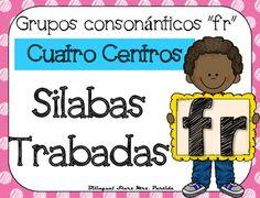 """NO PREP! Spanish Blends """"Fr""""  CCSS NO REQUIERE PREPARACION!  Este paquete incluye cuatro centros o estaciones  para las silabas trabadas o grupos consonnticos  """"fra, fre, fri, fro, fru"""" con hojas de registro para los estudiantes a diferentes niveles.CCSS:    RF.K.2.B RF.K.1.C , RF.2.3.D, RF.2.3.C, RF.2.3.F, RF.1.1 A, RF.1.2.A, RF.1.2.D,  RF.1.3.A, RF. 1.3, RF.1.3.DB, RF.1.3.D,  RF.1.3.G,  RF.1.4.B , RF.K.1.B, RF.K.2.B,RF.K.3.A, LK.2DCentros1.- Tapetes de silabas trabadas para plastilina5…"""