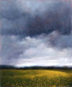 Ambera Wellmann:  Buttercups Under the Rain  Oil on Canvas  2007