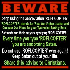 Follow up to the #LOL warning. We uncover more of Satan's evil master plan!