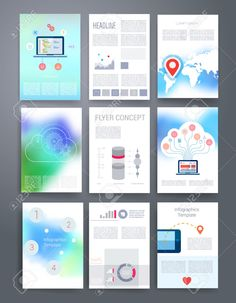 Cool Marketing Brochure Templates Set   Marketing Strategies