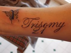 Trisomy 21 Down Syndrome Butterfly tattoo