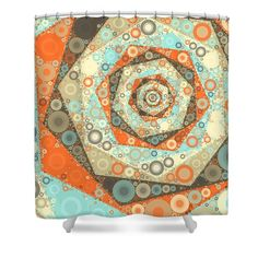 Afternoon Chai - Circles Shower Curtain by Sharon Norman #showercurtain #geometric