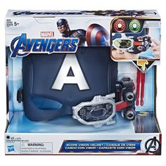 Marvel Avengers Captain America Scope Vision Helmet With Projectiles For Role Play Dress Up Multi Marvel Captain America, Ms Marvel, Captain America Helmet, Marvel Comics, The Avengers, Avengers Shield, Steve Rogers, Helmet Brands, Toys R Us Canada