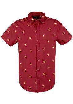 """Camicia uomo a maniche corte """"Logo"""" di The Flash."""