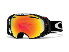 New Oakley Airbrake Goggles Jet Black/Fire/Persimmon by Oakley. $220.00. Fun and Durable Goggles by Oakley,Comes With Case,Filters Out 100% of UVA/ UVB/ UVC,Fog Elimination Of Dual Vented Lenses,Balanced Fit Via Fixed O-Matter,Rigid Frame Support Minimizes Optical Distortion,Frame Eliminates Nasal Pressure and Maximizes Airflow,57-393