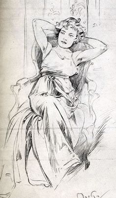 Mucha drawings