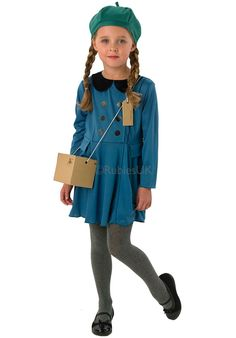 Kids Evacuee Girl Costume, 1940''s WWII Fancy Dress - General Kids Costumes at Escapade