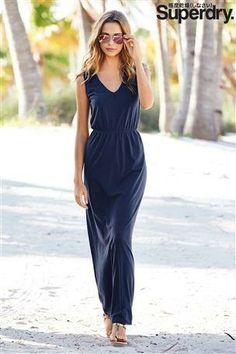 Superdry Navy Maxi Dress