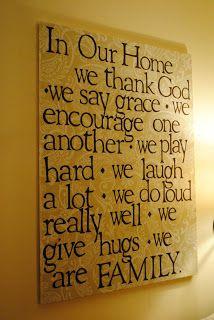 Naptime Decorator: Family Quote Art