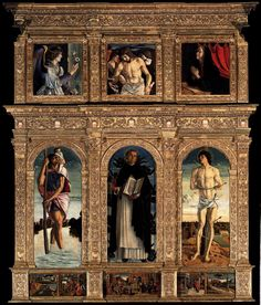 Giovanni Bellini (Venice, Italy, 1430-1516) ~ Polyptych of San Vincenzo Ferreri ~ 1468 ~ Giovanni Bellini was an Italian Renaissance painter, probably the best known of the Bellini family of Venetian painters. His father was Jacopo Bellini, his brother was Gentile Bellini, and his brother-in-law was Andrea Mantegna.