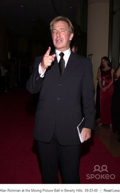 September 23, 2000 -- Alan Rickman at the Moving Picture Ball in Beverly Hills, California.