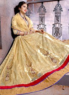 Adorning Embroidered Work Designer Lehenga Choli    Wedding Lehenga Choli   Bridal Lehenga Choli   Item Code: 4516