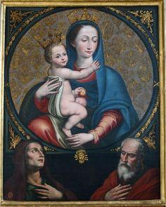 Ambito napoletano, Madonna della Purità con i SS. Anna e Gioacchino, XVII sec., Napoli