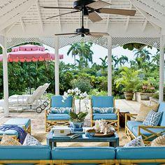 Poolside Preppy - Our 60 Prettiest Island Rooms - Coastal Living