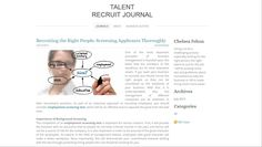 http://birchgrovecovenofkc.weebly.com/journals/recruiting-the-right-people-screening-applicants-thoroughly read more As part of an extensive approach to recruiting employees, you should consider employment screening test, which will be an effective tool to separate the good from the bad ones.