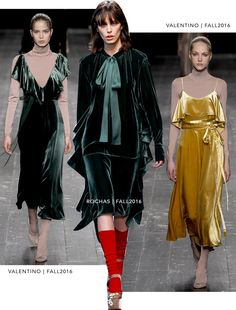 Veludo Molhado - Rochas: Outono 2016 e Valentino: Outono 2016 Unique Outfits, Pretty Outfits, Beautiful Outfits, Vestidos Vintage, Vintage Dresses, Nice Dresses, Fashion 2017, Fashion Outfits, Costura Fashion