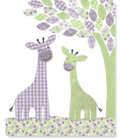 Nursery Art Print Giraffe Decor Green and by SweetPeaNurseryArt, $15.00