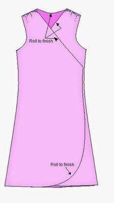 DICA DE COSTURA DE FIFIA: costura : vestido envelope com molde
