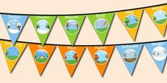 Months of the Year Bunting Welsh - months, year, bunting, welsh Months In A Year, Welsh, Bunting, Display, Learning, Illustration, How To Make, Color, Floor Space
