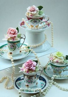 roses, pearls, and teacups