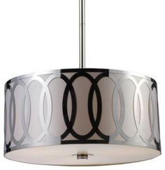 elk anastasia 3light polished nickel drum chandelier