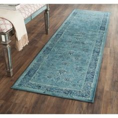 Shop for Safavieh Vintage Oriental Turquoise Distressed Silky Viscose Runner (2'2 x 8'). Get free shipping at Overstock.com - Your Online Home Decor Outlet Store! Get 5% in rewards with Club O! - 15703355