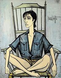 Portrait of Véronique Mourousi, 1987 - Bernard Buffet (1928-'99)