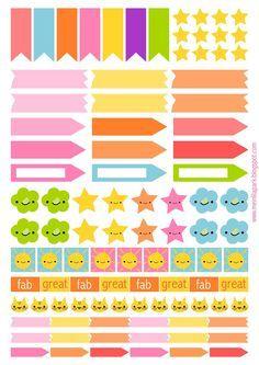 stickers para agendas para imprimir - Buscar con Google