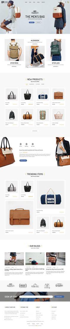 Umbra is the premium #WordPress #Template for multiconcept #bag #shop website…
