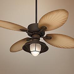 "52"" Casa Vieja Aerostat Palm Outdoor Ceiling Fan"