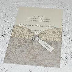 Lace pocket invite