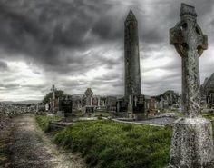 Kilmacduagh Round Tower, Galway, Ireland
