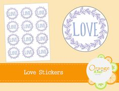 Items similar to Love Stickers - Favor Jar Stickers - Floral Stickers on Etsy Favour Jars, Favors, Love Stickers, Wedding Stickers, Floral, Etsy, Florals, Presents, Host Gifts