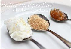 Serek + cukier + miód = naturalny peeling do skóry wrażliwej